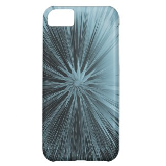 Frosty Blue Burst iPhone 5C Case