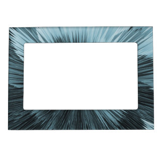 Frosty Blue Burst Magnetic Picture Frame