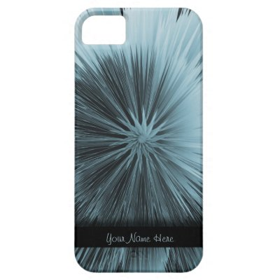 Frosty Blue Burst Personalized iPhone 5 Case