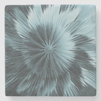 Frosty Blue Burst Stone Coaster