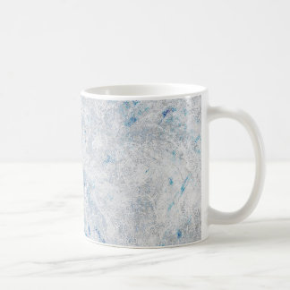 Frosty Blue Ice background Coffee Mug