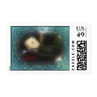 Frosty Blue S mores Snowman Stamp