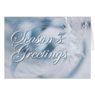 Frosty Blue Storm Card