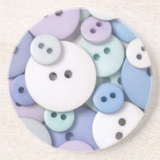 Frosty Buttons coaster