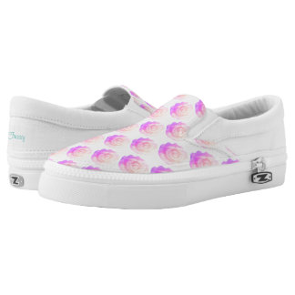 Frosty Cake Rose in Pink Ombre Part Changeable Printed Shoes