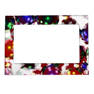 Frosty Christmas Ornaments Magnetic Frame