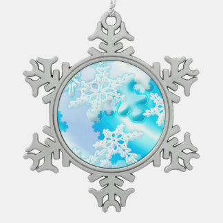 Frosty Christmas Snowflakes Ornament