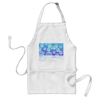 Frosty Clarity –- Azure Beauty & Indigo Depth Adult Apron