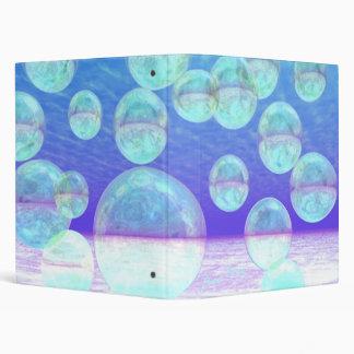 Frosty Clarity –- Azure Beauty & Indigo Depth 3 Ring Binders