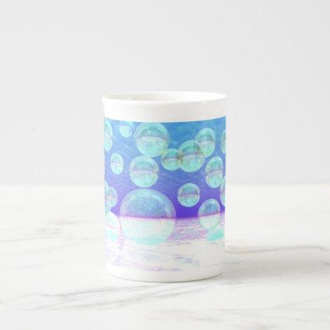 Frosty Clarity –- Azure Beauty & Indigo Depth Bone China Mug