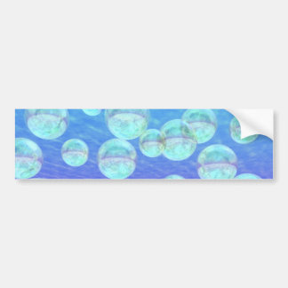 Frosty Clarity –- Azure Beauty & Indigo Depth Bumper Stickers