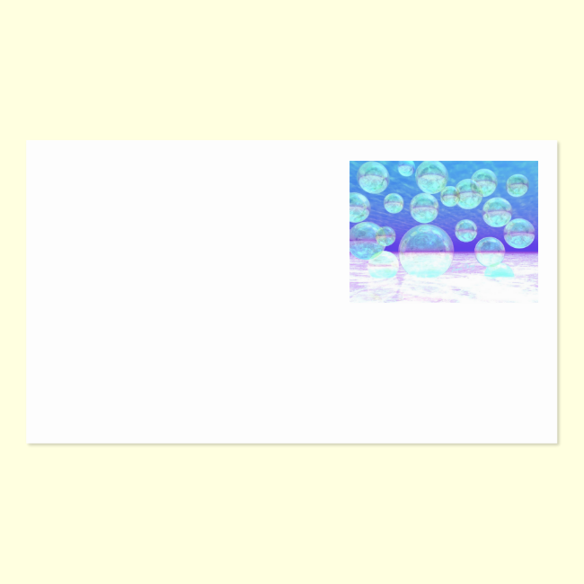 Frosty Clarity –- Azure Beauty & Indigo Depth Double-Sided Standard Business Cards (Pack Of 100)