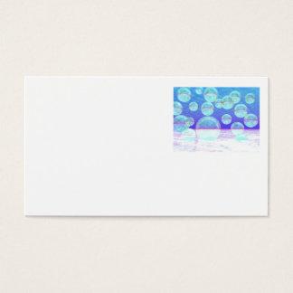 Frosty Clarity –- Azure Beauty & Indigo Depth Business Card