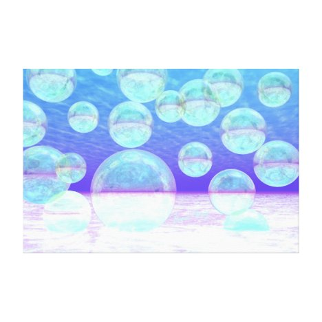 Frosty Clarity –- Azure Beauty & Indigo Depth Canvas Print