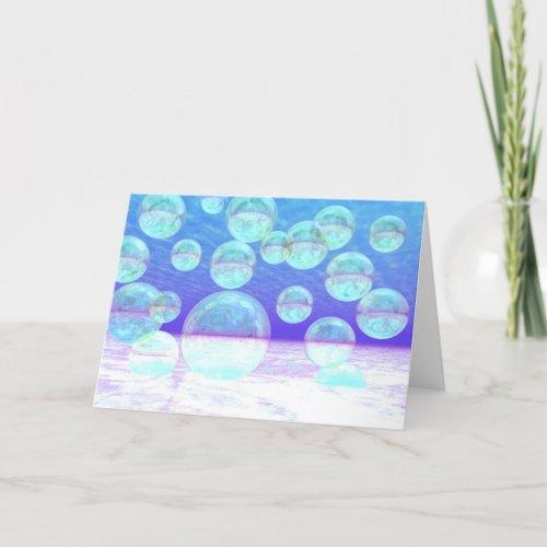 Frosty Clarity –- Azure Beauty & Indigo Depth Holiday Card