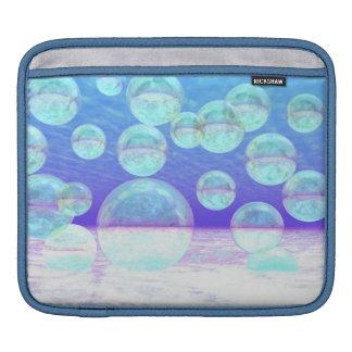 Frosty Clarity –- Azure Beauty & Indigo Depth iPad Sleeve