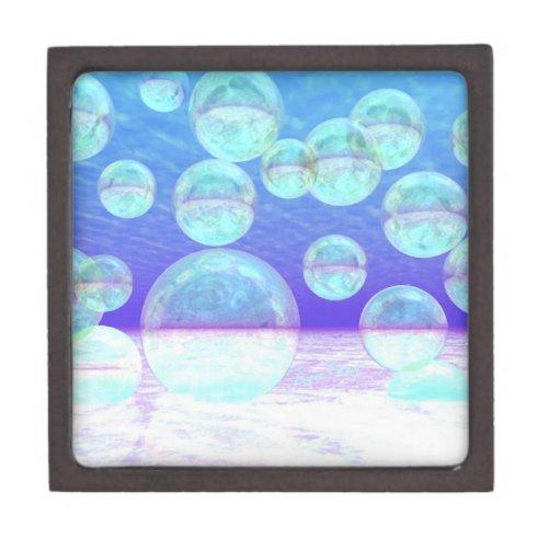 Frosty Clarity –- Azure Beauty & Indigo Depth Jewelry Box