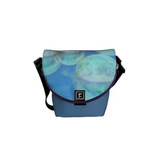 Frosty Clarity –- Azure Beauty & Indigo Depth Mini Courier Bag