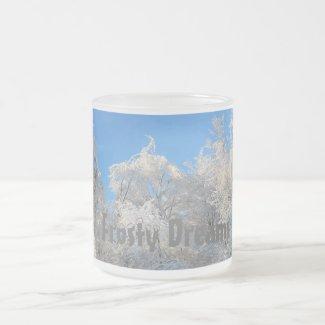 Frosty Dreams White Ice Trees Mug