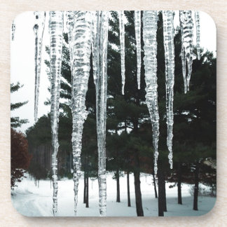 Frosty Drizzly Morning Drink Coaster