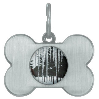 Frosty Drizzly Morning Pet Name Tag