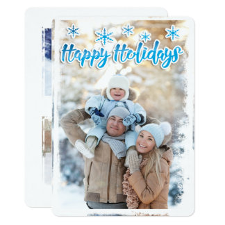 Frosty Edge Holiday Flat Card