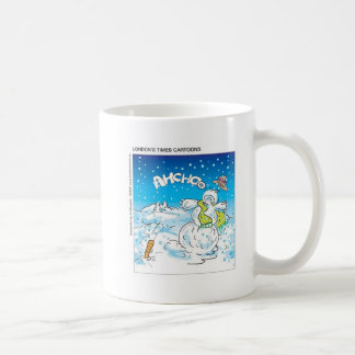 Frosty Fights The Flu Funny Christmas Gifts & Tees Coffee Mug