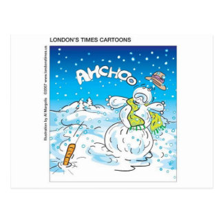 Frosty Fights The Flu Funny Christmas Gifts Tees Post Cards