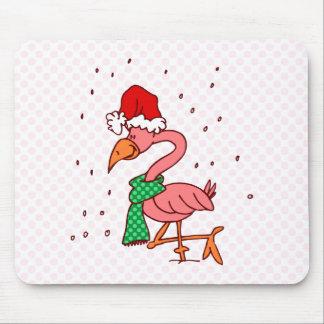 Frosty Flamingo Mouse Pad