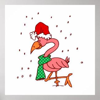 Frosty Flamingo Posters