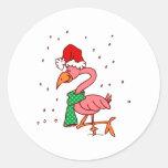 Frosty Flamingo Sticker