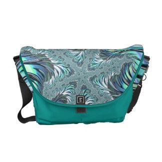 Frosty Fractal Art Messenger Bag