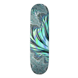 Frosty Fractal Art Skateboard Deck
