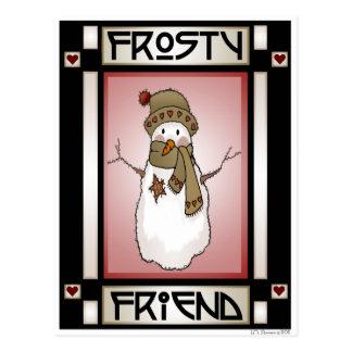 Frosty Friend Snowman 3 Postcard