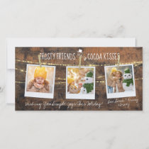 Frosty Friends & Cocoa Kisses Snowman 3-Photo Card