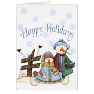 Frosty Friends Holiday Card