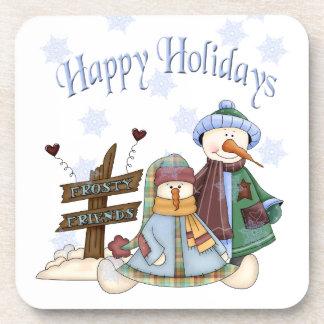 Frosty Friends Holiday Coaster Set (6)