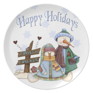 Frosty Friends Holiday Plate