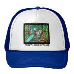 Frosty Goes Hawaii Funny Christmas Trucker Hats