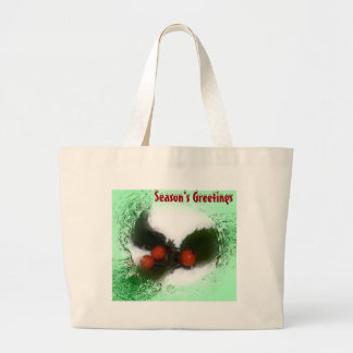 Frosty Green Holly Berries Bag