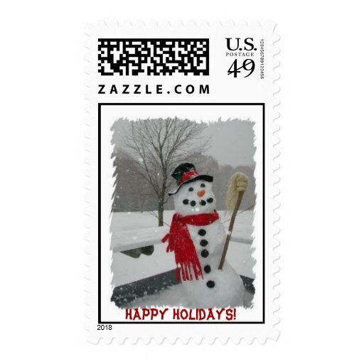 Frosty, Happy Holidays! Stamps