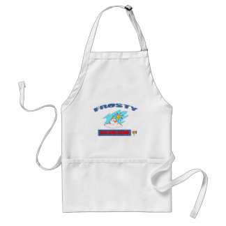 FROSTY HATES GLOBAL WARMING ADULT APRON
