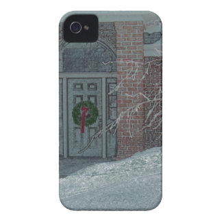 Frosty Holiday Door IPhone cover Case-Mate iPhone 4 Case