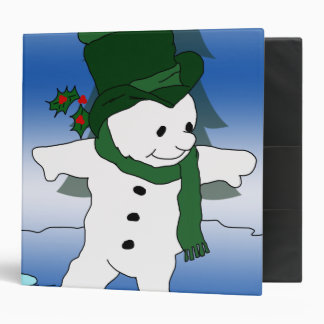 Frosty in Green 3 Ring Binder