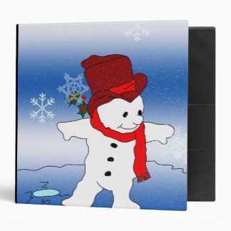 Frosty in Red Binder