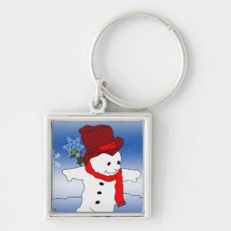 Frosty in Red Keychain