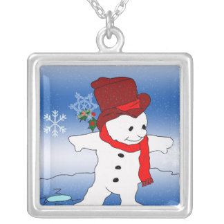 Frosty in Red Silver Plated Necklace