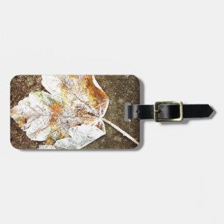 Frosty Leaf Bag Tag