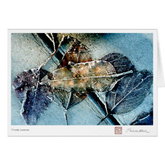 Frosty Leaves Card