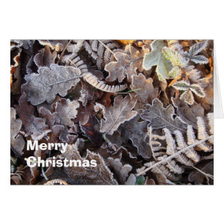 Frosty leaves Christmas card